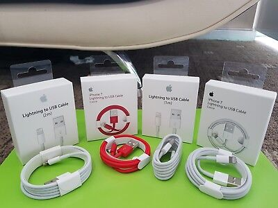 Genuine 1M 2M 3M iPhone 6 6S 7 Plus 5S 5C iPad Lightning Sync Charger USB Cable