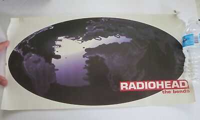 "VINTAGE RADIOHEAD 12"" x 24""  ""THE BENDS""  TOUR/CLUB POSTER."