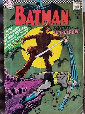 Batman #189 (Feb 1967, DC) First Silver Age Scarecrow (3rd Overall) Low Grade