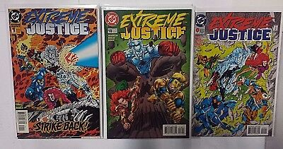 Extreme Justice 1995 Dc Booster Gold Complete Comic Set 0, 1-18