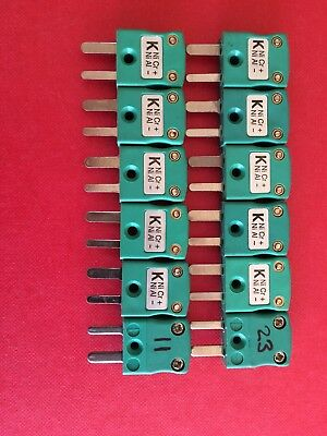 Job Lot - 12 Off Type K Thermocouple In-Line Plug Used Once - Please Read!