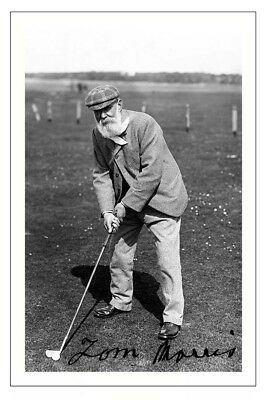 Old Tom Morris Golf Signed Autograph Photo Print
