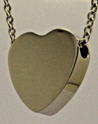 Cremation Urn Necklace - Keepsake Pendant for Ashes - Chunky Heart