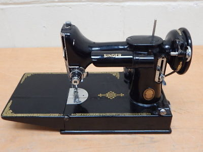 Vintage Singer 221K  Featherweight Portable Sewing Machine ~ No Case / Pedal
