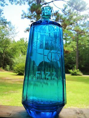Peacock Blue Seltzer Bottle Southern States Siphon Bottling Co Found In Texas Tx