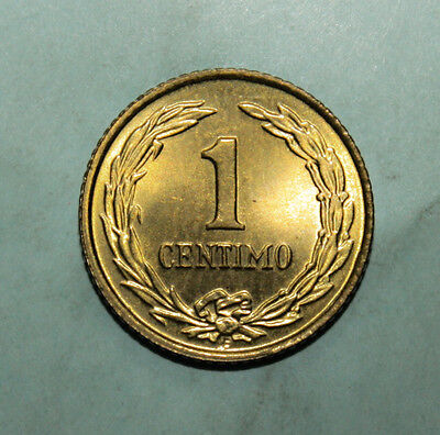 Paraguay 1 Centimo 1950 Brilliant Uncirculated Coin - Flower Within Circle
