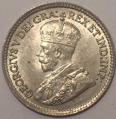 1919 CANADA SILVER 5 CENTS Uncirculated