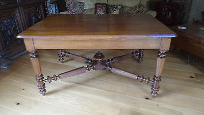 French Solid Oak Dining Or Kitchen Table