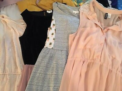 Lot Of 4 EUC Womens/Juniors Pink Dresses (Maison Jules, H&M)