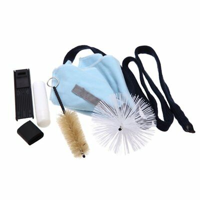 SS Saxophone Cleaning Tool KitCleaning Cloth+Cork Grease+Brush+Thumb Rest+Reed C