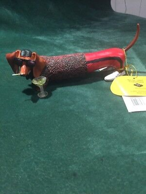 """Hot Diggity Dog """"Cocktail Frank"""" Collectable By Westland # 16567"""