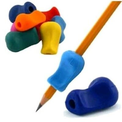 2X Childrens Pen Pencil Grip Corrector- Kids Silicone Hand Writing Gripper Tool