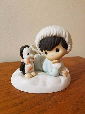 "1998 Precious Moments ""Alaska Once More, How's Yer Christmas"" Figurine #455784"