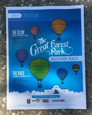 The Great Forest Park Balloon Race 2017 Official Program, St. Louis