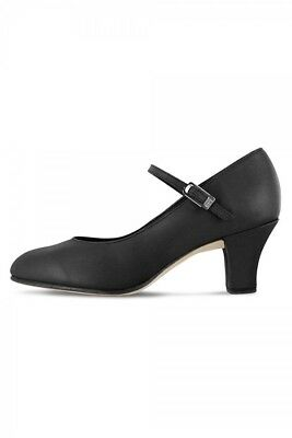 Bloch Women's Black Leather Cabaret Character Shoes, Size 5, New $19.95