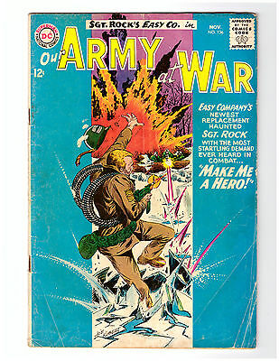 OUR ARMY AT WAR #136 in VG- grade 1963 DC WAR comic w/ SGT ROCK