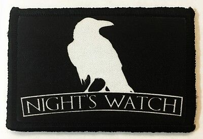 Game of Thrones Nights Watch Morale Patch Tactical Military Army Badge Army USA