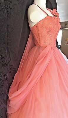 Vintage NWT Fit & Flare Prom Dress Rhinestone Full Sweep Swing Party  NOS