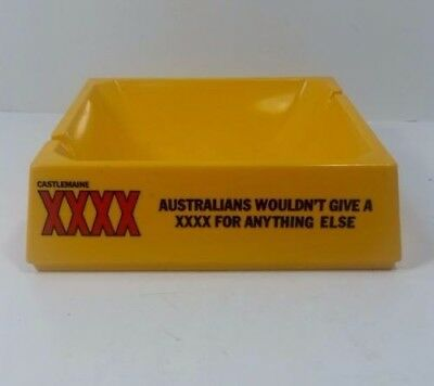 Castlemaine XXXX Australia Yellow Ashtray Draught Lager Beer Home Pub Man Cave