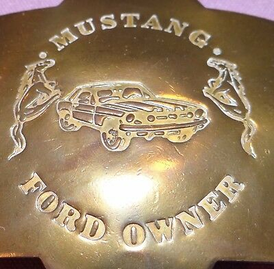 Mustang Ford Owner Sheriff's badge brass Set of 2 6 point pin