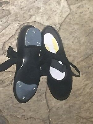 Leo's Girl's Black Patent Leather Tap Shoes, New, Size 13   $10.95