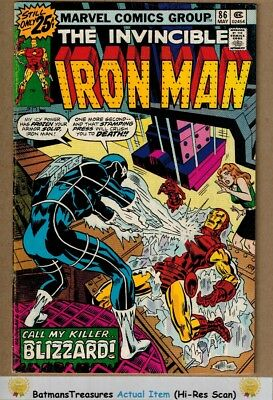 Invincible Iron Man #86 (7.0) F/VF 1st Appearance of Blizzard 1976 Key Issue