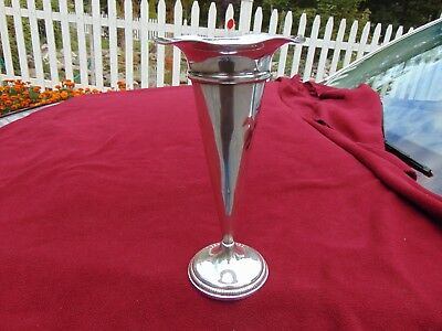 "10+1/4"" vintage STERLING TRUMPET VASE - 11.3 oz. SCRAP OR REPAINR-see!"