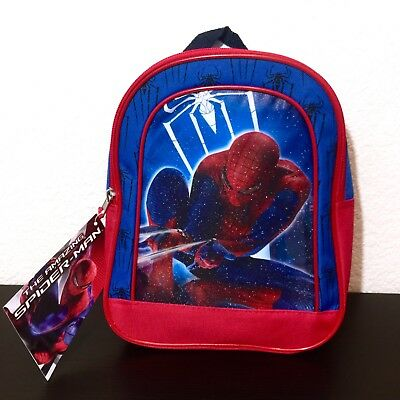 Marvel The Amazing Spiderman Boys Toddlers Mini Canvas Graphic Bag Backpack NWT