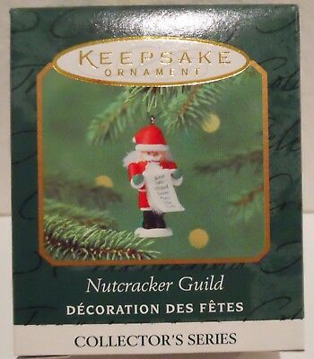 2000 Hallmark Miniature Ornament Nutcracker Guild - Santa nutcracker, MIB