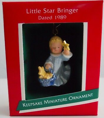 1989 Hallmark Miniature Ornament Little Star Bringer Angel, MIB