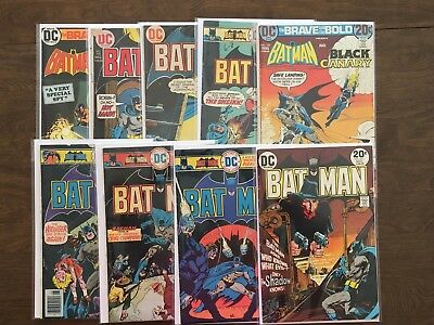 Lot Of 9 Bronze Age Comics -Batman,  Brave And Bold