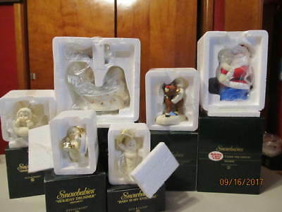 Snowbabies Department 56 Lot Of 7 Brand New Holiday Figurines And Lots More@@@