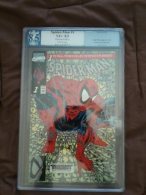 Spider-Man 1 Platinum Edition (PGX 8.5 VF+) WHITE PAGES. VERY HARD TO FIND !!!!!
