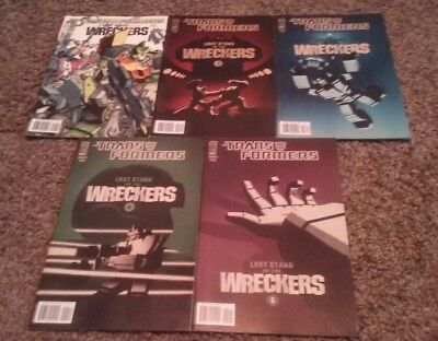 IDW Comics Transformers Last Stand of the Wreckers Complete Series 1 2 3 4 5