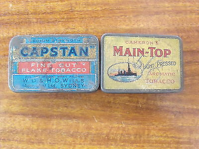 Cigarette Tins. 2. Capstan Fine Cut. Main-Top. Both used. Free T Post.