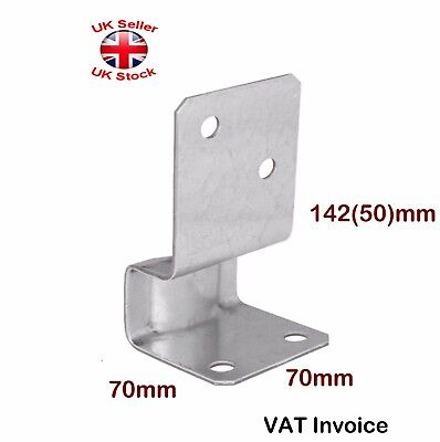 Galvanised Bolt Down Post Support 70 x 70 x 142 mm