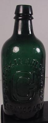 1870s CONGRESS & EMPIRESPRING CO. SARATOGA N.Y BEAUTIFUL GREEN BOTTLE