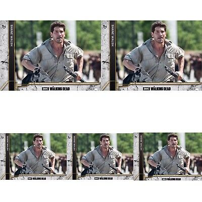 5x COME WHAT MAY CONCRETE WAVE 2 SHANE WALSH Walking Dead Card Trader Digital
