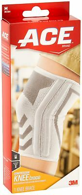 ACE Knitted Compression Knee Brace Featuring Side Stabilizers, Medium, 1/pack