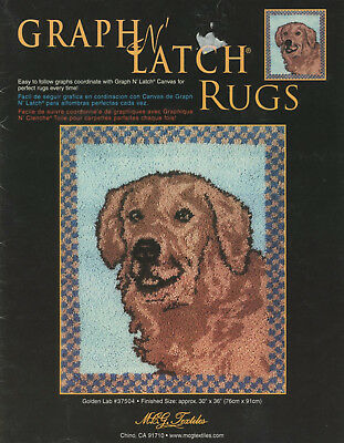 """Graph N Latch Rug Pattern 30"""" x 36"""" Golden Lab Dog Color Graph #37504"""