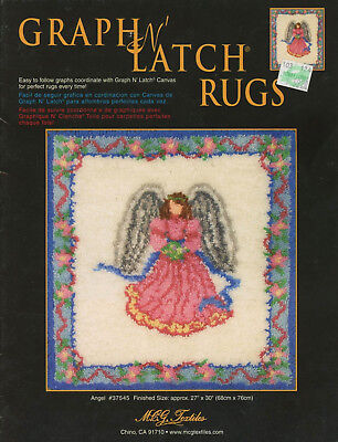 """Graph N Latch Rug Pattern 27"""" x 30"""" Angel Color Graph #37545"""