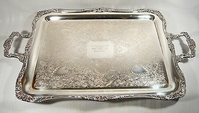Silver Plate Footed Tray Wm Rogers 28  x 16  Oilmen's Golf Tournament '62 Trophy
