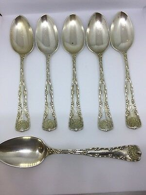 Tiffany & Co. Vintage sterling silver Wave Edge teaspoon Set of 6