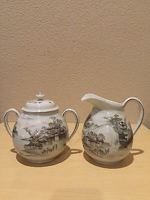 Antique Very Old Chinese/Japanese  Set Of Two Hand Made And Painted porcelain