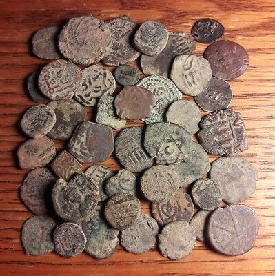 40+ Uncleaned Islamic & Byzantine Coins with Silver
