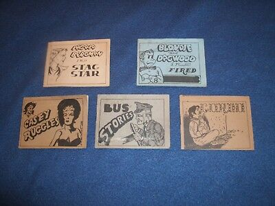 rare blondie  and dagwood in fired art adults comics  set of 5