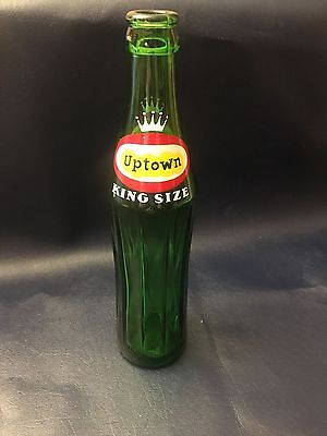 Vintage Uptown Soda pop Bottle 10 oz  Canada?      King Size       Format Geant