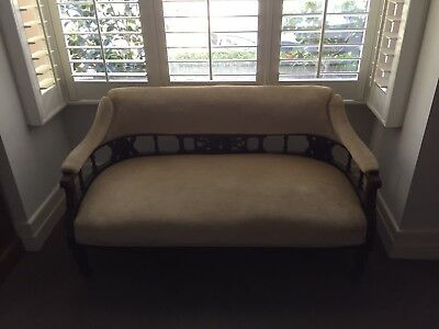 Antique Victorian Mahogany Couch