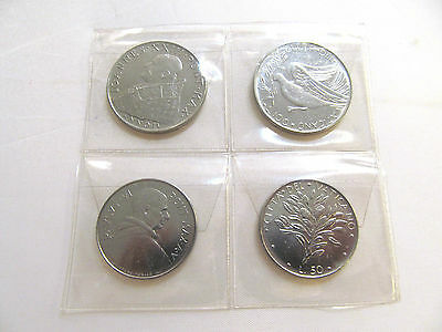 collectible old set of 4 vatican coins.