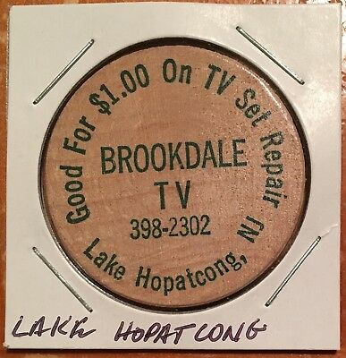 New Jersey Wooden Nickel circa 1950s-1970s – Lake Hopatcong – BROOKDALE TV